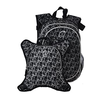 Amazon.com : Obersee Munich School Backpack with Detachable Lunch Cooler, Skulls : Childrens School Backpacks : Baby