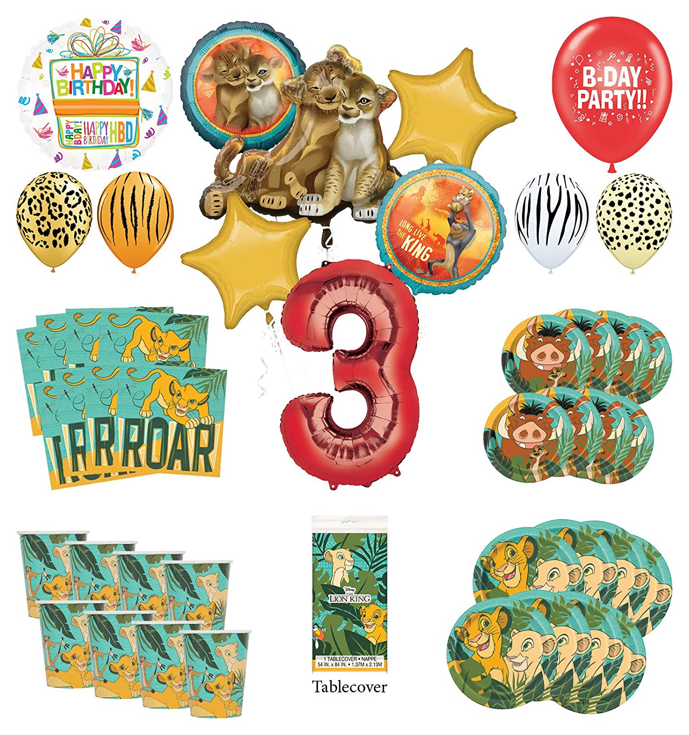 Lion King Party Bundles for 8 Guests