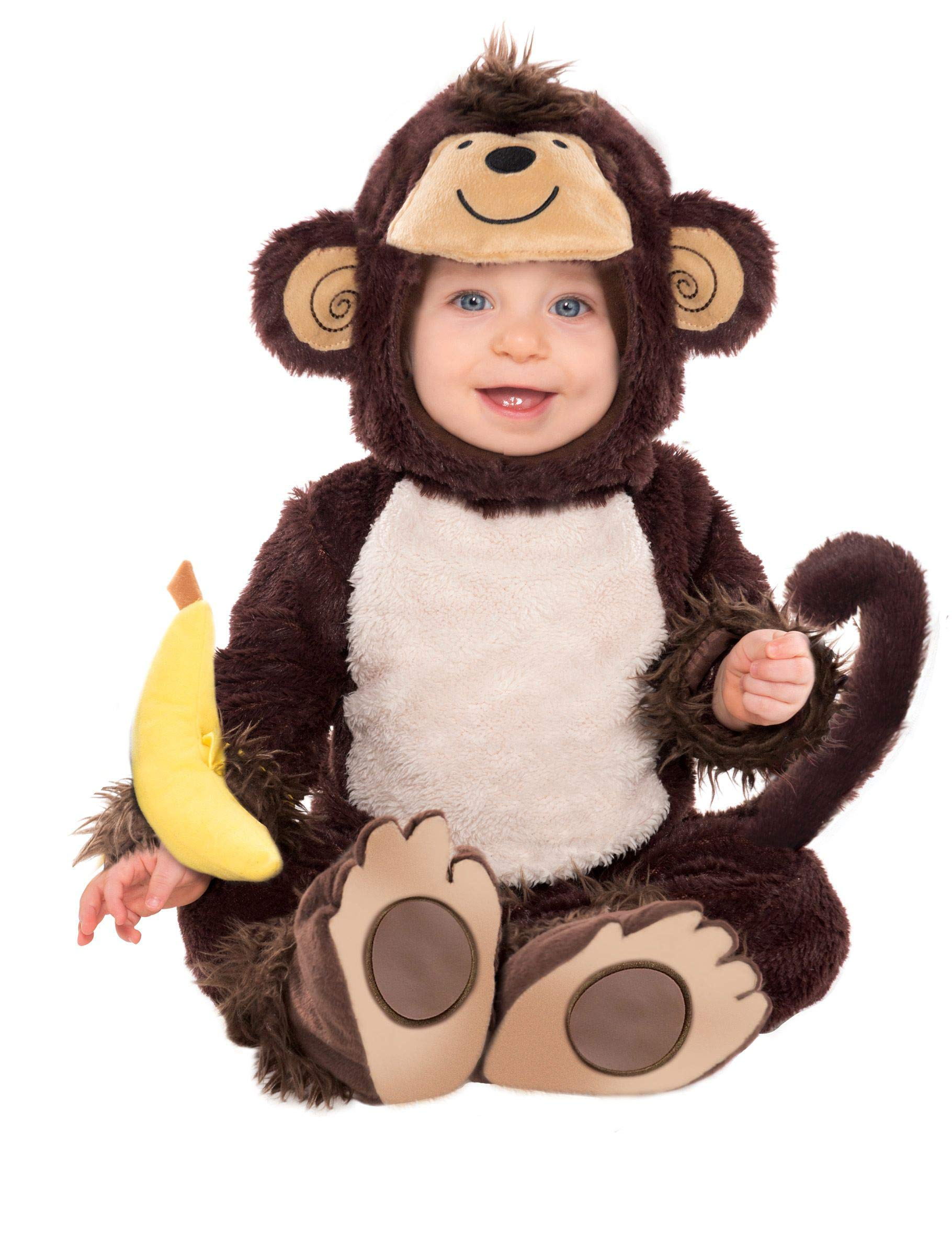Christy's Toddlers Monkey around Costume (6-12 Months) by Amscan by Party Parade (Image #1)