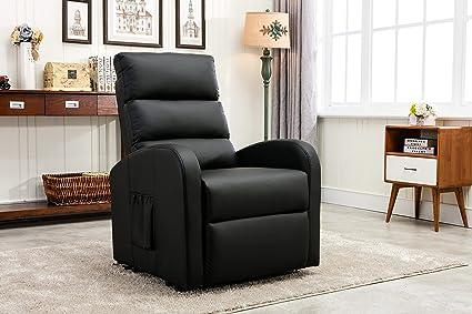 Amazoncom Divano Roma Furniture Classic Plush Bonded Leather Power