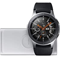 Samsung Galaxy Watch 46 mm (Bluetooth), Silber + Induktive Powerbank, Lifestyle Bundle, Silber