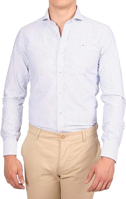 Alvaro Moreno, Camisa Strips Oxford-38, color Azul: Amazon.es ...