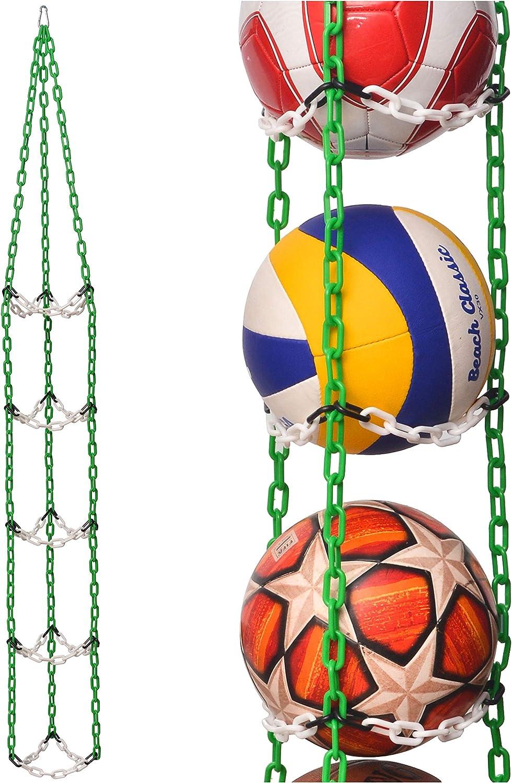 Vailantes™ Organizador Colgante Para Pelotas: De Fútbol, Voleibol y Baloncesto Original Organizador De Pelotas Para La Habitación De Los Niños o De Entrenamiento En Clubes Deportivos: Amazon.es: Deportes y aire libre