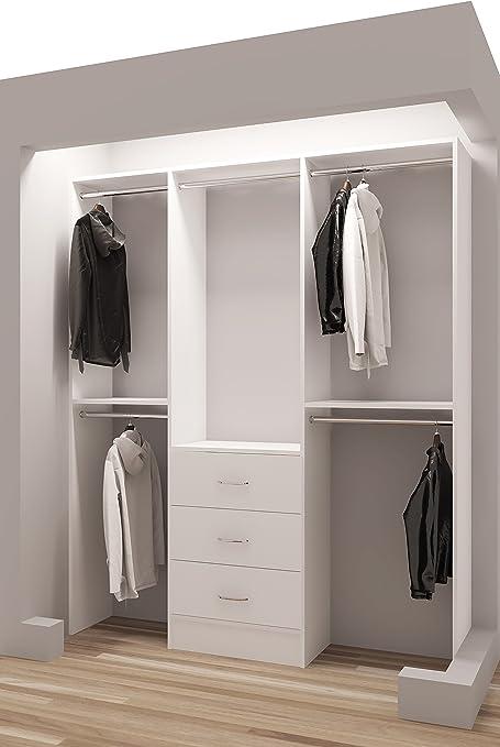 Bon Tidy Squares Demure Design 69u0026quot;W Closet System