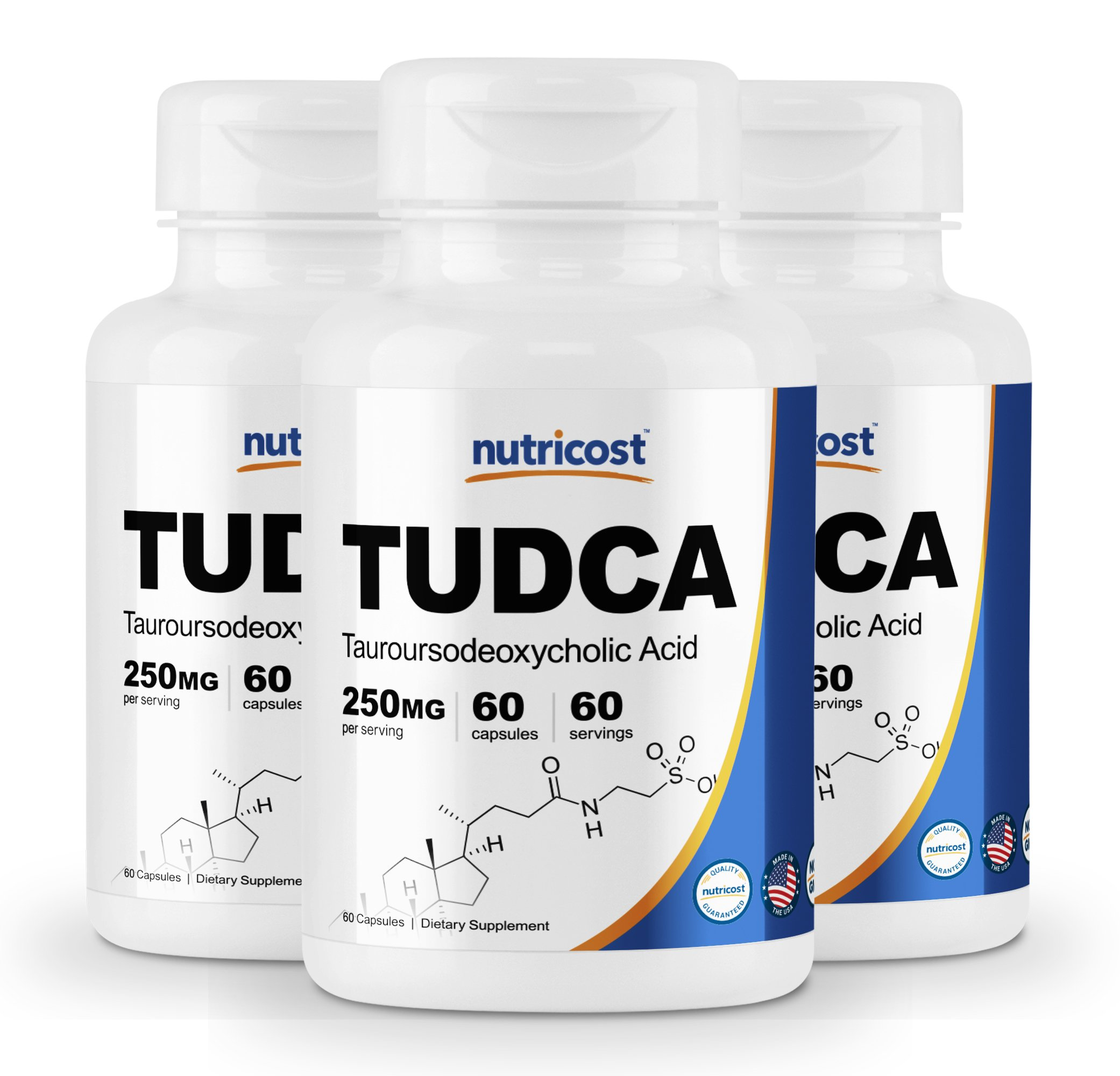 Nutricost Tudca 250mg, 60 Capsules (3 Bottles)