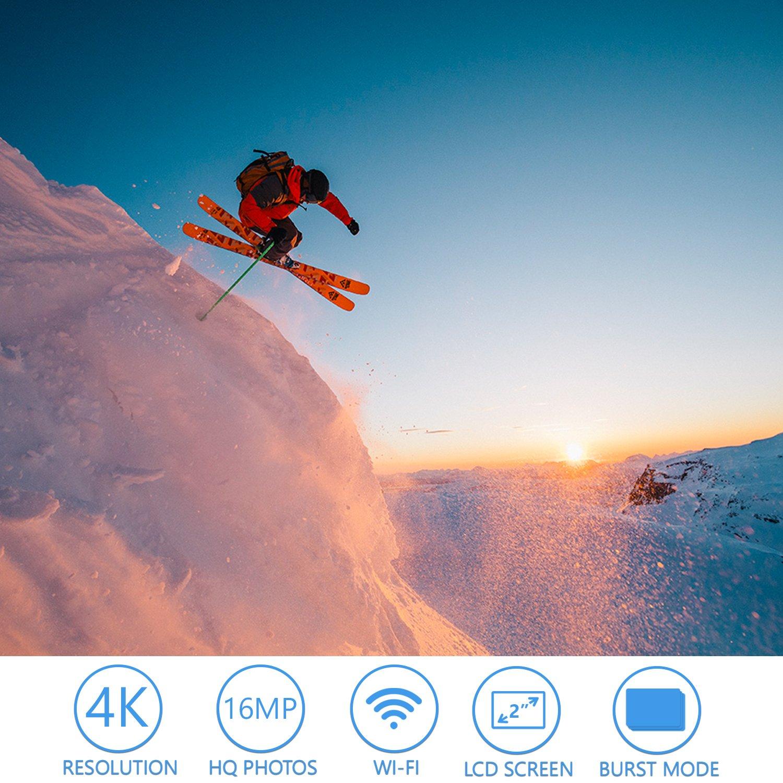 Cámara Deportiva Action Cam Mycam4 WIFI 4K full HD cámara de acción deportiva Full HD 16 MegaPixel gran angular 170 ° LCD 2.0 pulgadas profesional funda ...