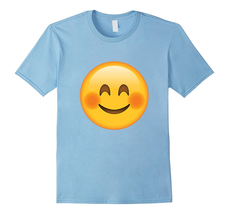 Smile Cheeks Blush Face Emoji T Shirt-Cool T-Shirt – Acaciva.com