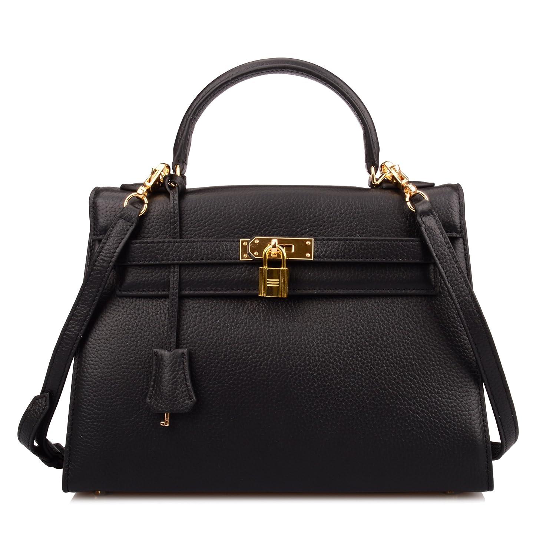 Ainifeel Women's Padlock 32cm Shoulder Handbags