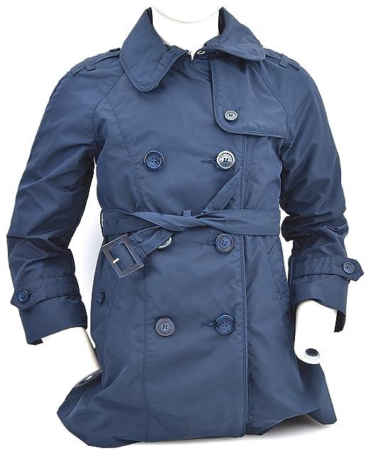 cheap for discount b42d6 ebadd Moncler Trench Bambina Nylon Blu Art. PDSH78 E0420 40049 4 ...