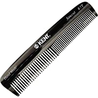 Kent R7T Graphite Double Tooth Hair Pocket Comb, Small Fine/Wide Tooth Comb For Grooming Styling Hair, Beard and…