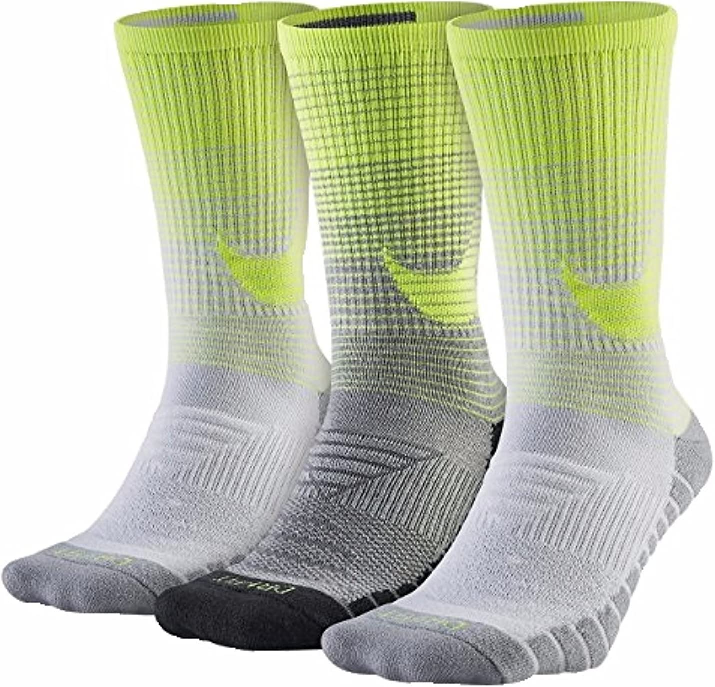 Mens Nike 3-pack Dri-FIT Swoosh HBR Performance Crew Socks,LARGE 8-12