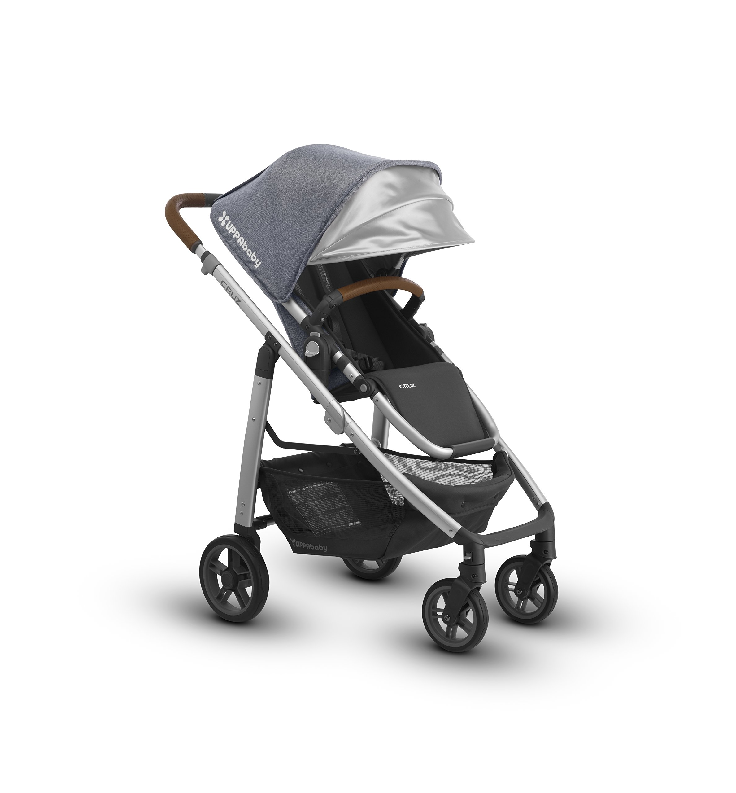 2018 UPPAbaby Cruz Stroller- Gregory (Blue Melange/Silver/Saddle Leather) by UPPAbaby