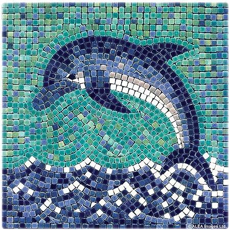 amazon com diy mosaic art kit 7 square 20x20cm dolphin toys