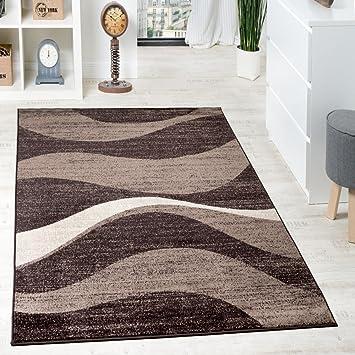 Paco Home Designer Teppich Modern Gewellt Kurzflor Teppich Design Meliert  In Braun Beige, Grösse: