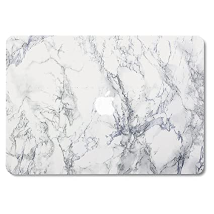 newest f9ebd 52d8f GMYLE MacBook Air 13 Inch Case A1466 A1369 Old Version 2010 2017, Hard  Shell Plastic Matte Snap On Cover (White Marble)