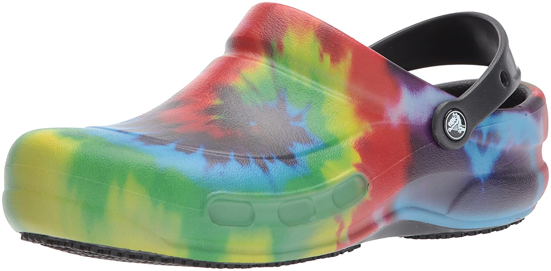 Crocs Bistro Graphic Clog, Zuecos Unisex Adulto 38/39 EU|Multicolor (Black/Multi)