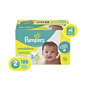 Size 2, 186 Count - Pampers Swaddlers Disposable Baby Diapers, ONE MONTH SUPPLY