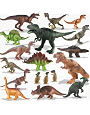 Kids Toy 20 Packs Dinosaurs Play Set with Baby Dinosaur Eggs Toddlers Educational Toy Dinosaurs, Birthday Party Gift for Boys and Girls