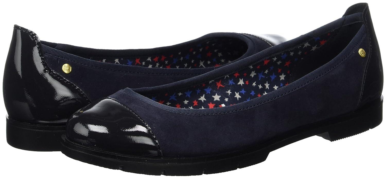 Tommy Geschlossene Hilfiger Damen M1285el 1c Geschlossene Tommy Ballerinas Blau (Tommy Navy) b575f5