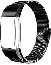 EUI Compatible para Fitbit Charge 2 Correa, Milanese Loop Pulsera de Acero Inoxidable Correa con