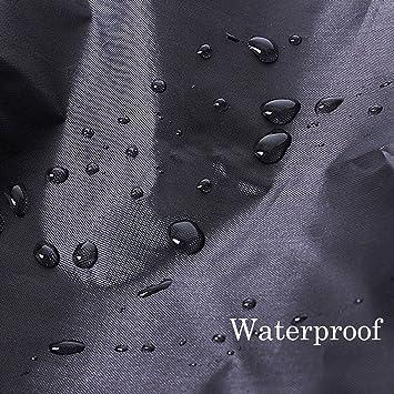 Cubierta de barbacoa Gofriend redonda, impermeable, resistente, protección contra el polvo y la lluvia, de tejido Oxford transpirable 210D, ...