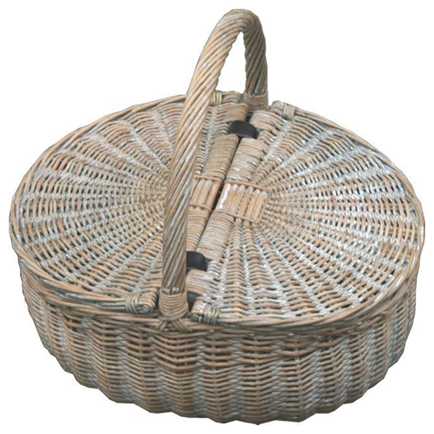 Red Hamper PR011/HOME Provence Double Lidded Empty Picnic Basket, Brown, 24 x 45 x 17 cm 503536719323