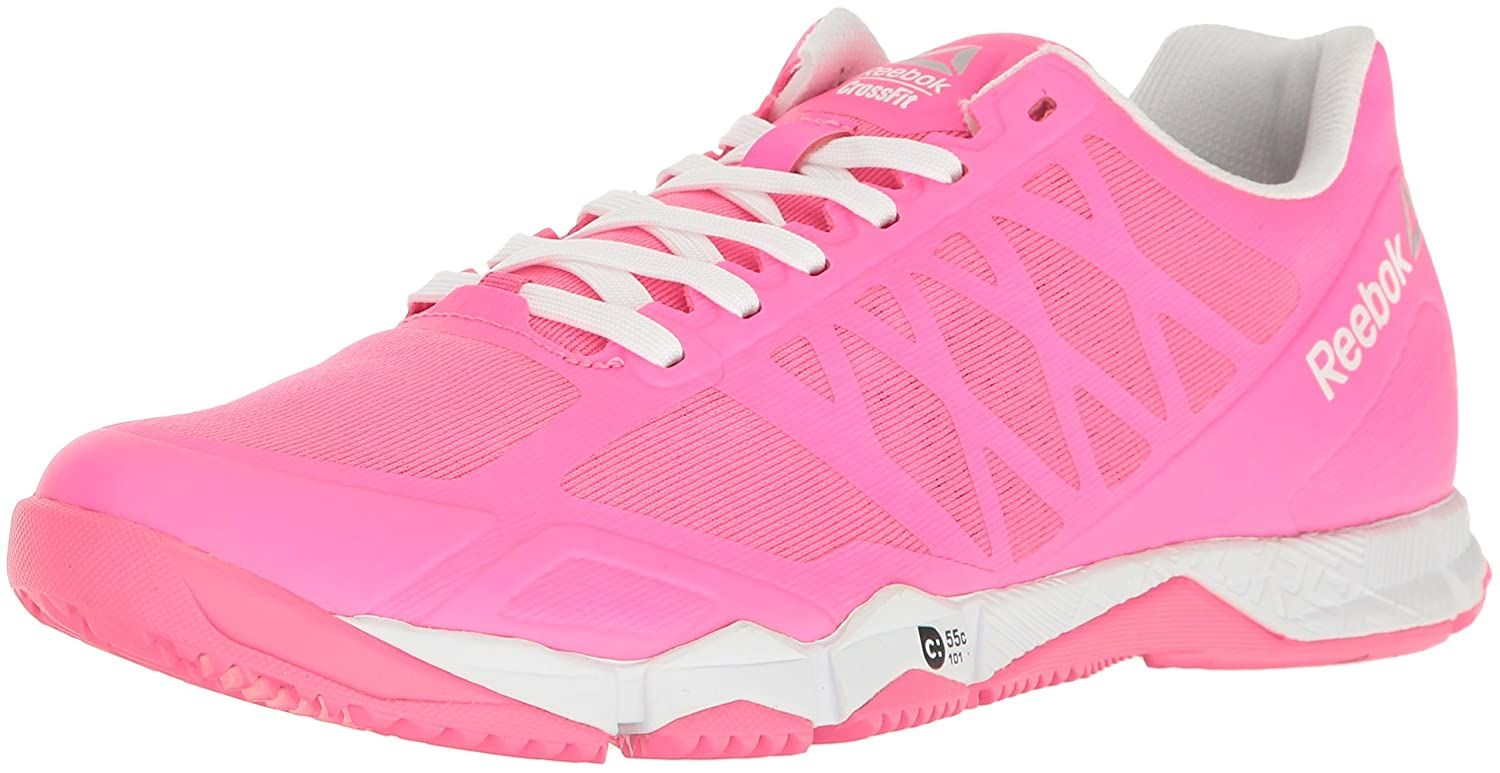 Reebok Women's Crossfit Speed Tr Cross-Trainer Shoe B01MAWCZ7A 12 B(M) US|Solar Pink/White/Silver Metallic