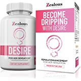 Desire Female Enhancement Pills – 5X Natural Mood Booster for Women - Increase Energy, Vitality, Reduce Dryness, Balance Horm
