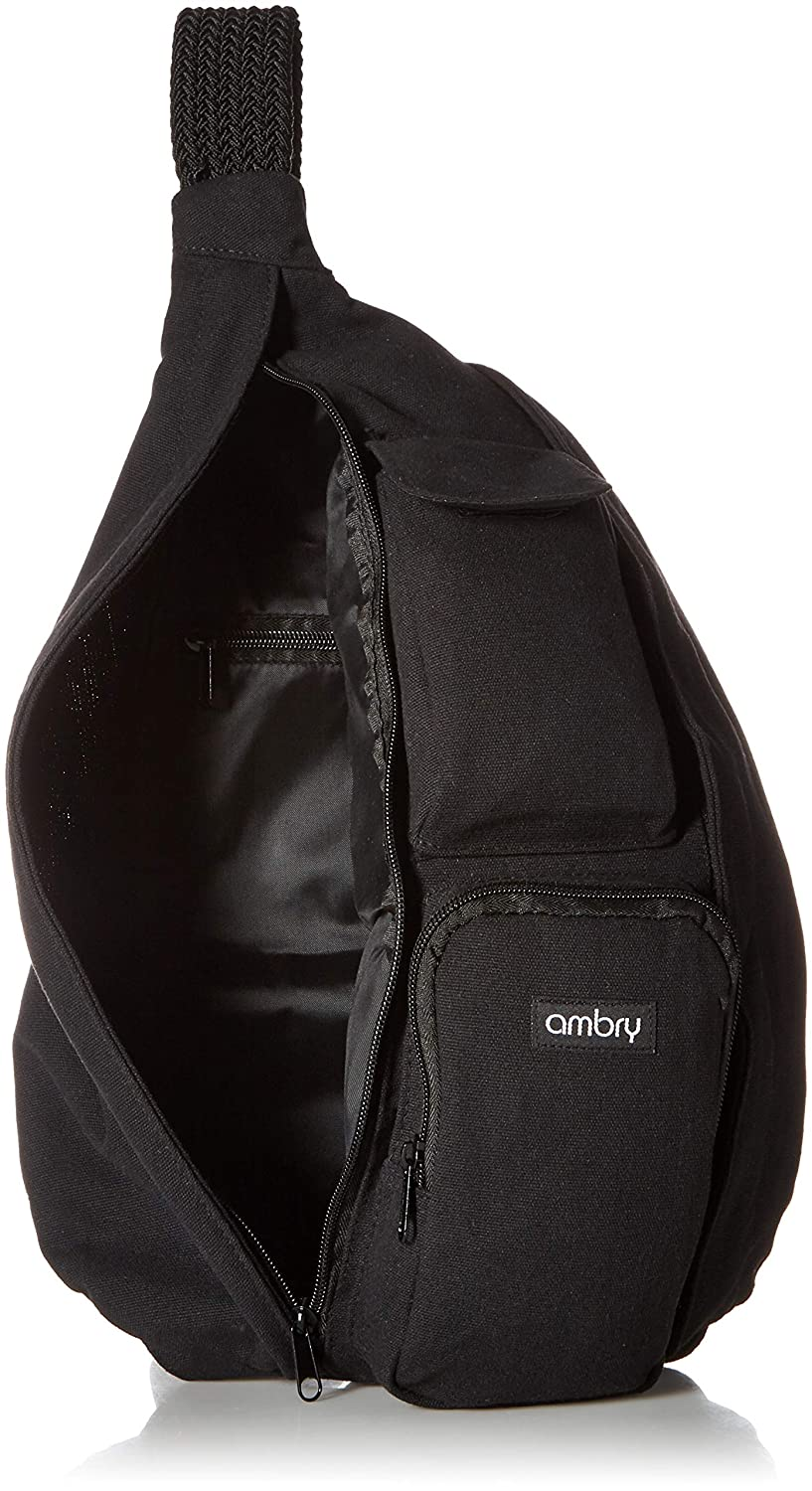 ce570663a0 Amazon.com  Ambry Rope Sling Bag - Canvas with Adjustable Shoulder Strap -  Compact Backpack for Women That Carries All Your Important Gear for Hiking