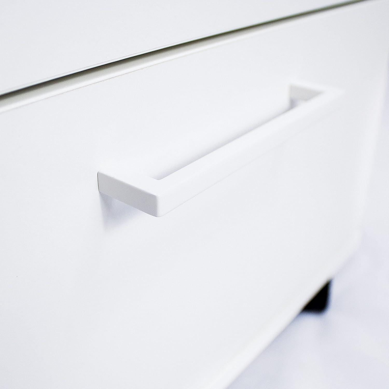 WeberB/ÜRO Profi Optima Rollcontainer 60cm tief wei/ß Rollschrank B/üro Container Schrank
