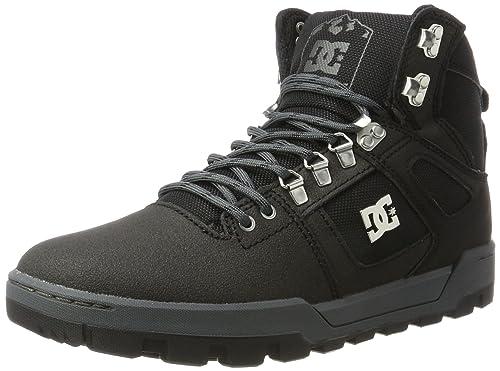 3fa09bf432cad Amazon.com  DC Spartan High WR Boots UK 8 Black Black Dark Grey  Shoes