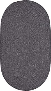 "product image for Candor Grey 11' 4"" x 14' 4"" Oval Braided Rug"