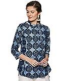 Fabindia Women's Plain Regular Fit Cotton Shirt