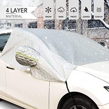 Aluminium Film Car Windscreen Windshield Front Glass Sunshade Snow Ice Frost /& Sunlight Resistant Car Windshield Sun Shade Protector Tarp Cover