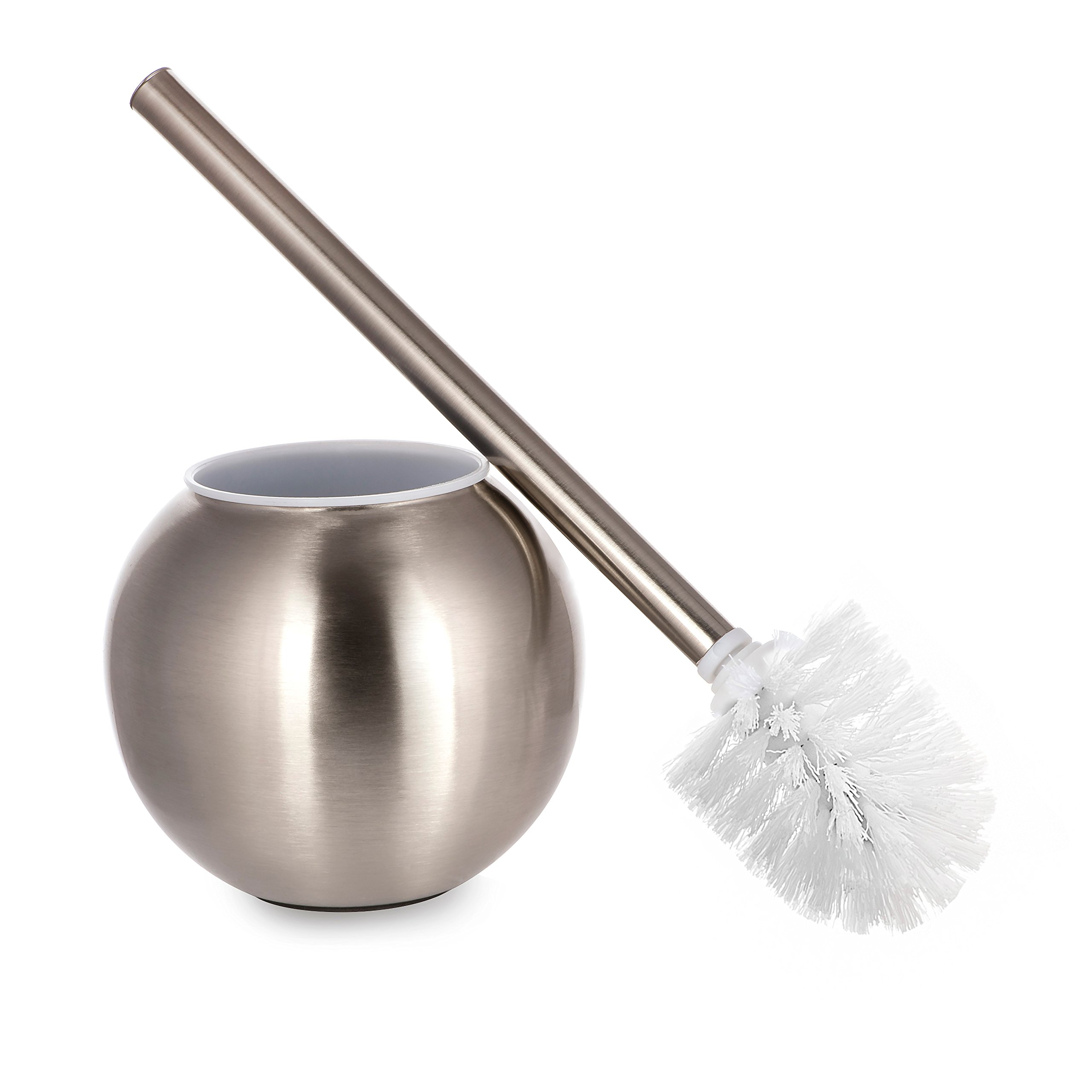 AMG and Enchante Accessories, Toilet Brush and Ball Holder, TB100001 SNI, Satin Nickel
