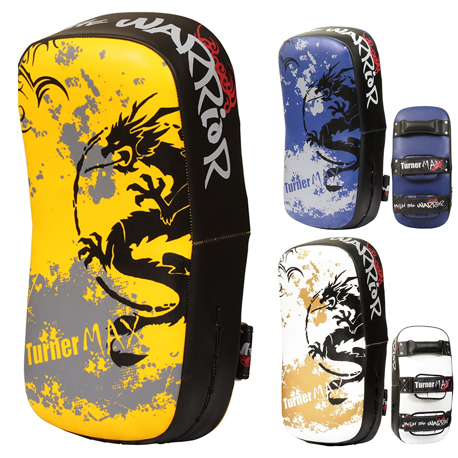 TurnerMAX Thai Kick Boxing Strike Shield Muay Pads Arm Punch MMA UFC Focus Bag B00R7UZENY