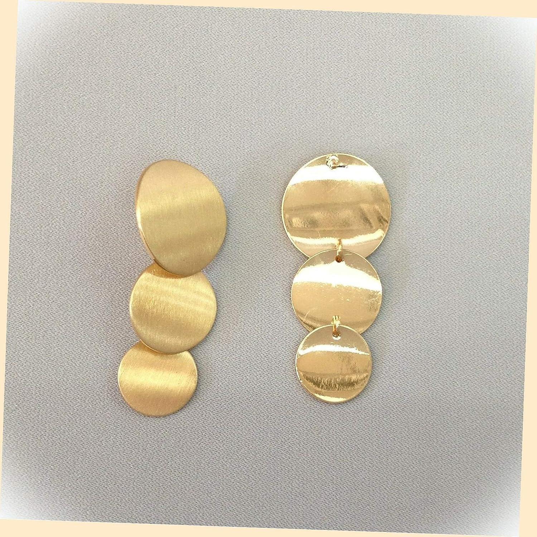 Cute Earrings Gift Ideas Mother/'s Day Gift BlackSilverRose Gold Tone Triple Dangling Glass Pearl Earrings Mother/'s Day Present