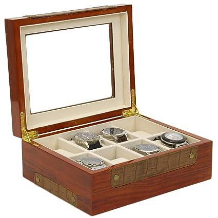Amazoncom Valet Storage Organizer Wood Watch Jewelry Box Valet