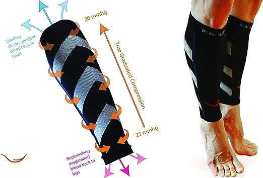 Graduado de compresión para la pantorrilla mangas calcetines ...