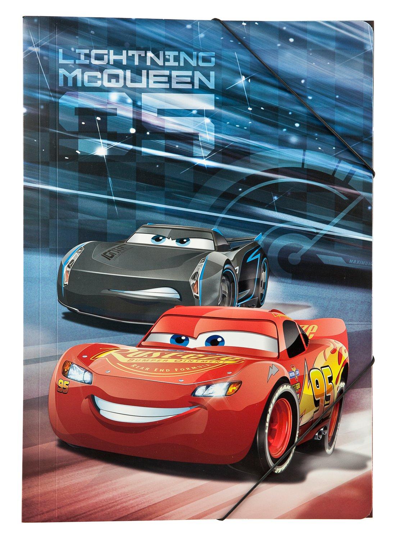 Under cover caad0290cartellina con ELASTICO A3, Disney Pixar Cars 3 Undercover
