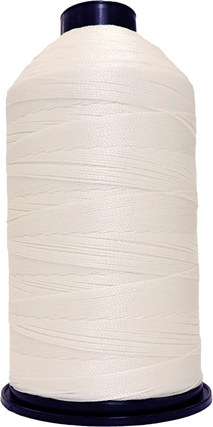 207 Bonded Nylon Lubed WHITE Sewing Machine Thread