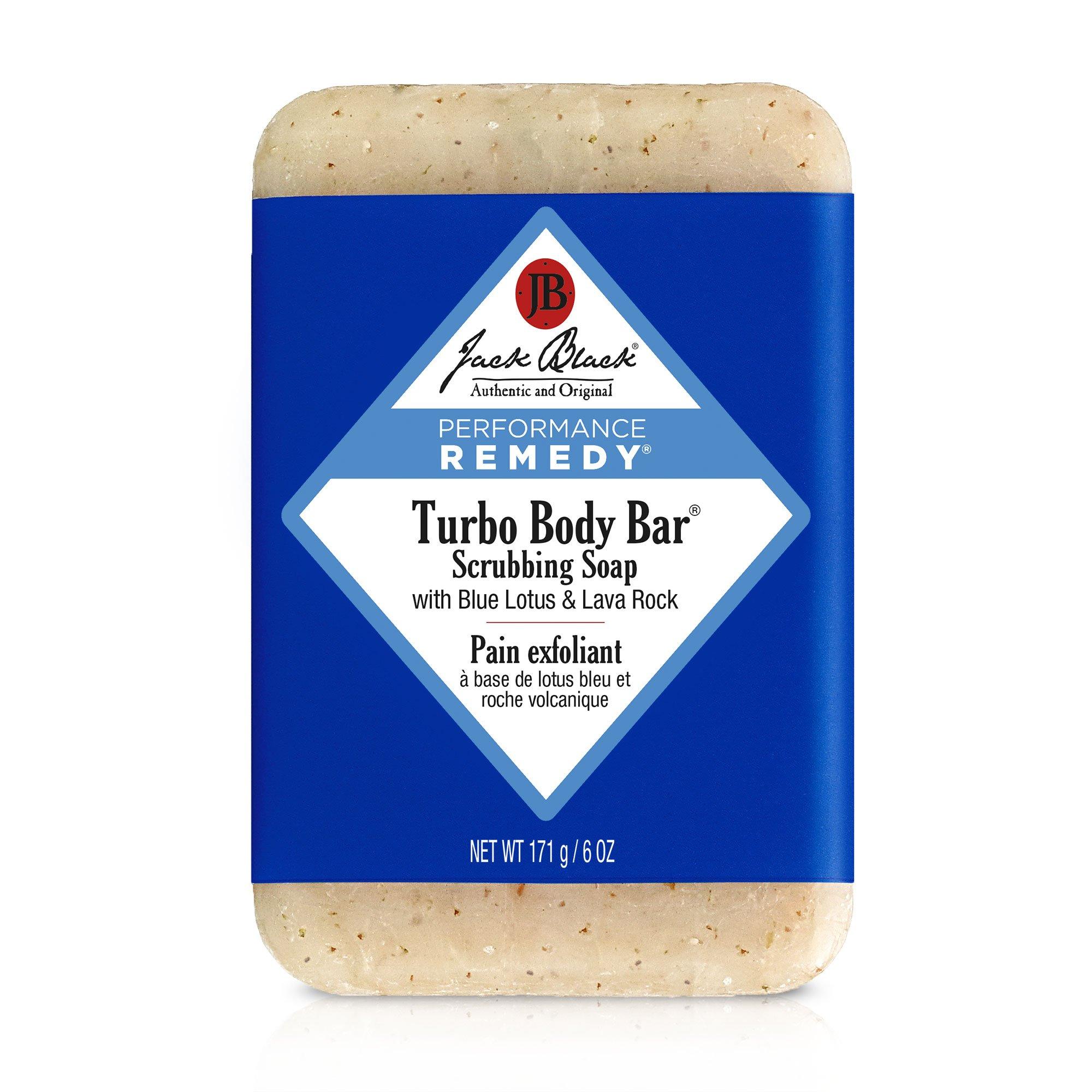Turbo Body Bar Scrubbing Soap- Men's Soap with Blue Lotus & Lava Rock