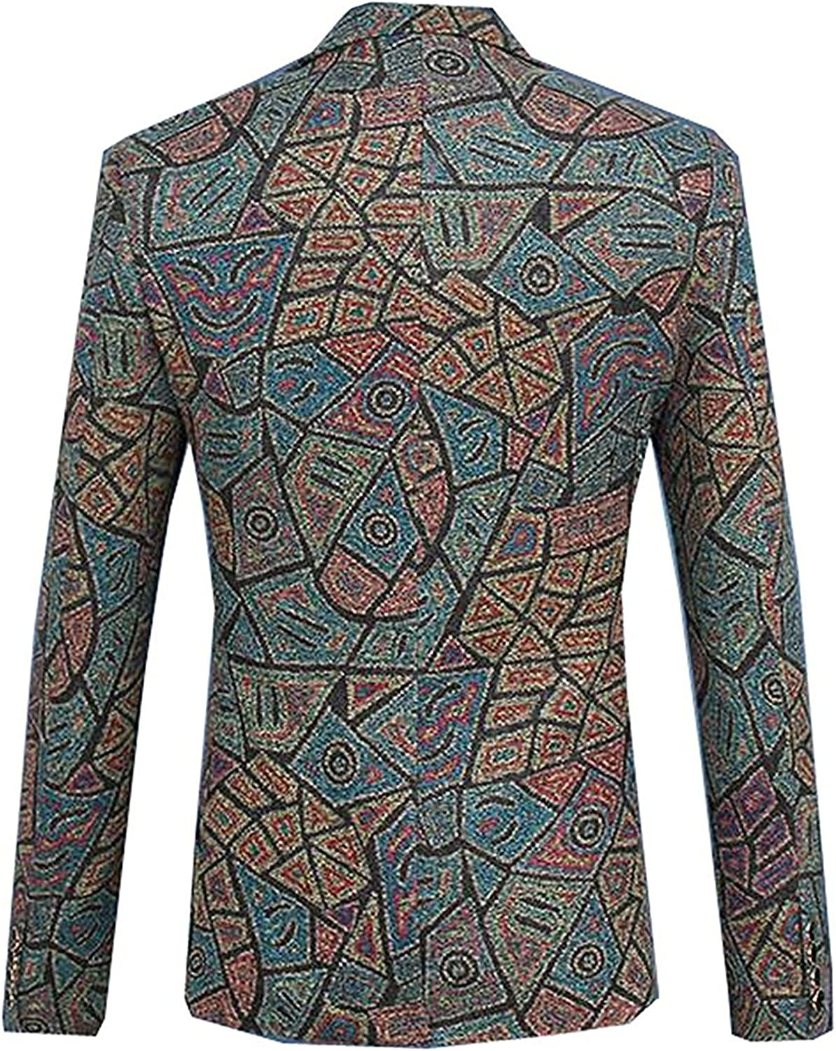 Rising ON Mens Fashion Floral Printed Slim Fit Blazers Jackets Coats