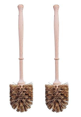 2er Set Klobürste Aus Holz Und Naturfasern Toilettenbürsteklobürsten Bürste öko Natur Bürsten Zur Wc Reinigung Mit Naturfasernaturborsten Und
