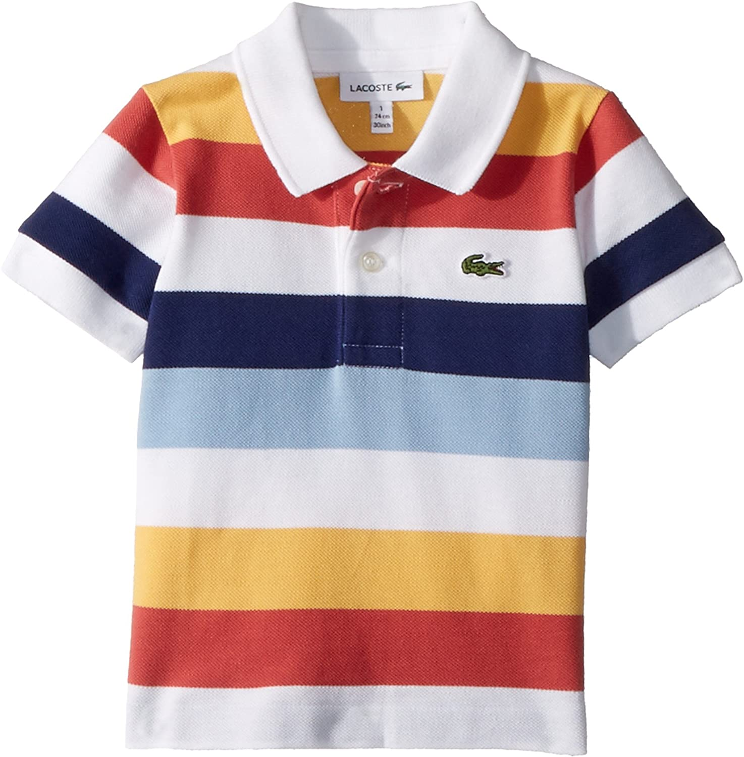 fcca7b04735 Lacoste Striped Polo T Shirt White   Chad Crowley Productions