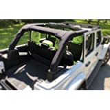 Koverz Neoprene Roll Bar Cover Padding Compatible with Jeep Wrangler JL Unlimited 4-Door JLU 2018-Present - Black