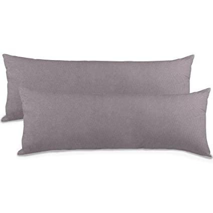 2er-Set Seitenschläferkissen Bezug 40x145 Kissenbezug Stillkissen-bezug, Jersey Qualitäts Kissenhüllen mit Reißverschluss 100