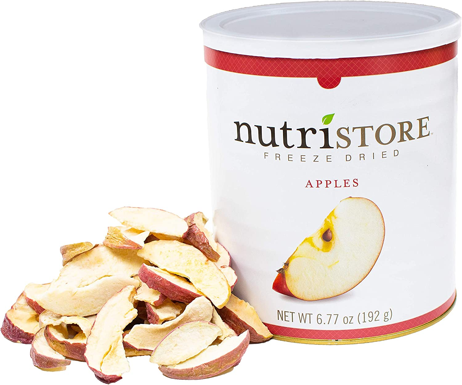Nutristore Freeze Dried Fuji Apples | 45 Servings | 6.77 oz | 25 Year Shelf Life | Amazing Taste | Healthy Snack On-The-Go | Emergency and Survival Food Supply