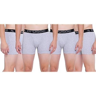 Crusoe Men's Trunks 4 Pc. S Black: Clothing