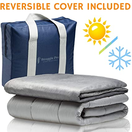 Snuggle Pro Weighted Blanket Adult - 20 lbs Heavy Blanket for Sleeping 53fafe871